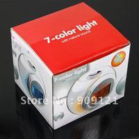 Hot Sale ! Fantastic & Novelty 7 Color Changing Light Alarm Clock With Nature Sound