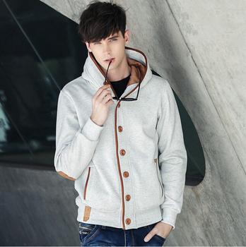 2012 free shipping men's hoodie  korean fashion hoodie sweatshirts slim cotton zip hoodie ( great quality ) 4 color m-xxl b20-70