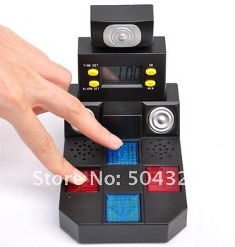 Free shipping 2opcs/lot Finger Dance Alarm Clock Dancing Mat Table Clock