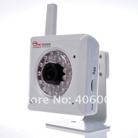 Wireless network ip camera with infrared night vision and ir cut filter, built-in DVR up to 32Gb   + free shipping