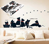 [funlife]-33x60cm Lovely Black Cats Home Decor Art Mural Kids Room Nursery Wall STICKER