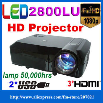 Top Quality Full HD 1280*800 Video Digital Entertainment Led Projector CT508 HDMI USB TV input KTV WII.PS2.PS3.Xbox360 PC game