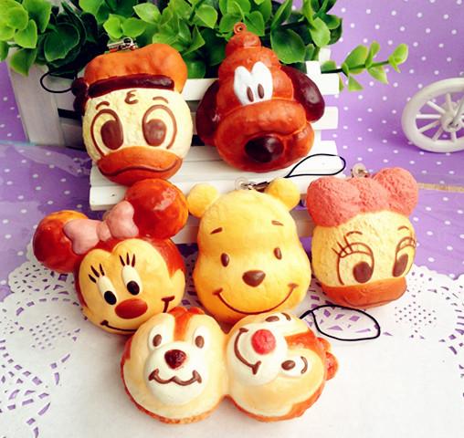 wholesales kawaii new cartoon animal re-ment squishy charm/free shipping(China (Mainland))