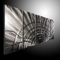 Metal Home Decor Modern Wall Art Abstract Contemporary Sculpture   Huge Explosion