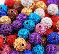 Wholesale 10mm CZ Disco Ball Crystal Shamballa Beads 200PCS Mix Color Free Shipping #W31707