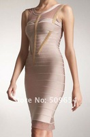 Hl Celebrity Bandage Evening Dress Women's Cocktail/Sexy Dress Silk/Chiffon