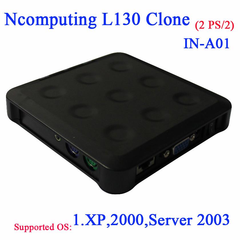 Ncomputing L130 клон с PS / 2 оборота один на 30 пользователей тонких клиентов включают терминал коробки блока питания кронштейн с