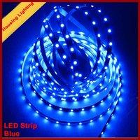 Blue non waterproof led strip, 5m/Roll, 300 led SMD3528, DC12V 24W [Housing Lighting]