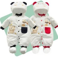Free shipping clothing set winter cotton baby clothing baby cute bear baby rompers 0-12M