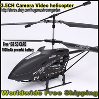 Free Shipping from Sweden/Swiss! RC Camera Vedio Helicopter 3.5CH w/GYRO Exclusive Alloy Series 16inch 1000mAh Powerful Battery