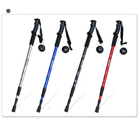 free shipping 6061 aluminum straightshank 135cm Hiking Walking Stick Alpenstock