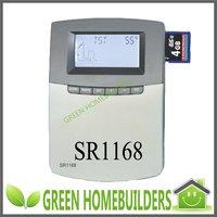 Datalogging onto SD memory card! Internet access! 6 application system programs! New solar water heater controller SR1168