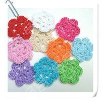Hand crochet cotton flower 100pcs a lot shipping free