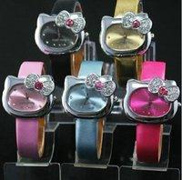 Hello Kitty Watch with crystal Fashion Watch Modern Watch Quartz watch Wristwatch 10pcs
