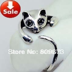 Fashion and personality, han edition super lovely cat cat ring modelling style sells clean out treasure(China (Mainland))