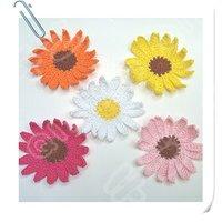 Hand crochet cotton flower x 25pcs shipping free