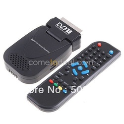 Free Shipping Cheap DVB-T SCART Mini TV Box Freeview Receiver Tuner Recorder(China (Mainland))