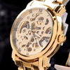 100% brand new,MCE luxury watch hot selling Automatic Mechanical skeleton Watches with gold-plated stainless steel bezel