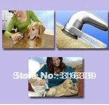 Free shipping,shed vac/Pet Hair Groomer/Electric suction wool implement/ pet vacuum cleaner/ As seen on TV/ hot selling, 1set(China (Mainland))