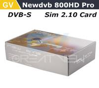 1PC Free DHL shipping Newdvb 800HD pro 800pro 800 HD #82 SIM2.10 satellite receiver