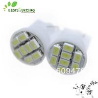 Free Shipping 10pcs/lot  White light T10 8 smd bright automotive led Car led light Led bulb