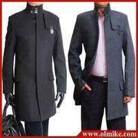 Sale 2014 New Winter coat men's Wool dust coat Turtleneck Long coat man dust outercoat Male outerwear Plus Size S-4XL MTS127