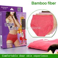 Hot Wholesale Free shipping 100% bamboo fiber comfortable breathable High Waist Underwear plus size Women Panties Women Shorts