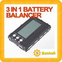 fast shipping 10pcs 3 in 1 Lipo Li-Fe Battery Balancer LCD Voltage Meter Tester  battey Discharger