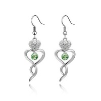 Costome Jewelry  Heart Pendant Earrings