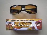 Freeshipping 50pcs/lot HD Vision Wrap Around Sunglasses,HD High Definition Vision Driving Sunglasses