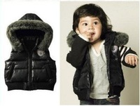 Free Shipping,High quality, HOT !!baby vest, the boy coat. Children's clothing  Male baby cool vest (4 set/lot), black