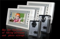 Free shipping luxury 7'' color video doorphone indoor monitor for security system with function of taking pictures