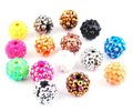 fashion 14MM Shamballa Resin Disco Beads 300pcs , free shipping  NO.W32614Y66