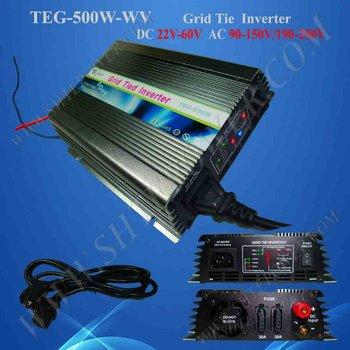 Solar Power On Grid Inverter, 500W DC 22V~60V AC 230V, Solar Panel System Grid Tie Inverter