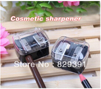 Free shipping,Double holes cosmetic sharpener,4 colors mix, Sharpener for cosmetic brush/eyeliner pencil/makeup pencil (SS-1843)