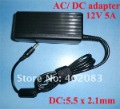 power adapter 12V 5A 100pcs/ lot  AC/ DC Power Adapter US/ EU/ UK for LED light strip LCD monitor fast shipping