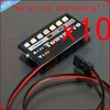 F01877-10 7 LED Battery Low Voltage Indicator Monitor,Nitro RC Model/Car/Helicopter+Free shipping
