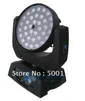 Free Shipping 10- 90degree auto adjustment zoom LED Moving Head Light DMX Diamond 36*10W RGBW 4IN1 Multi-Color LED Stage Light