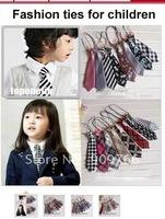 Unisex Kids' Neck Tie Handsome Kids Ties Children's School Tie in Different Colors & Designs 50pcs Lot TT101 Wholesale Freeship