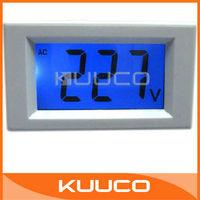 Mini Digital Voltmeter Panel AC 80-500V Blue LCD Digital Alternating Voltage Meter Power Monitor #090693