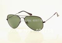 Free shipping Best Quality Designer sunglass Brand sunglass men's/women's Fashion Black sunglass Green lens 58mm airmail