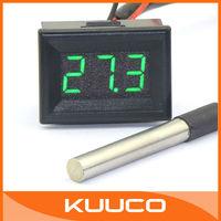 Mini Temperature Meter Tester -55 ~125 Celsius Degree Green LED Digital Thermometer DC 12V/24V Car Thermometer #090702