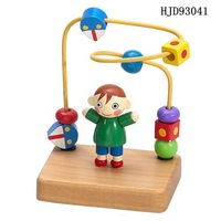 Wooden boys Stringing beads for kids intelligence toy