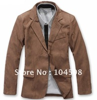 HK  post New Fashion Deerskin Woolen Stylish Men's Suit  Blazer, Business Suit, Formal Suit, Size: M-L-XL [Free Shipping]