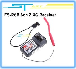 Free shipping Flysky FS 2.4G 6CH Receiver RX FS-R6B For CT6B FS-CT4B TX Transmitter 6 channel rc helicopter airplane hot(Hong Kong)