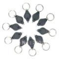 Free Shipping Mini LED Micro Black Keychain Key Ring Super Flash Bright Flashlight White Light
