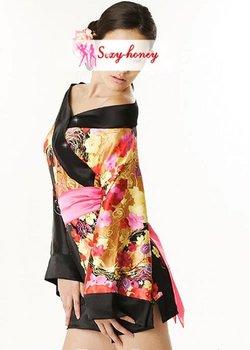 Free Shipping Women's Sexy Lingerie Kimono,Satin Geisha Kimono Dress,Sexy Adult Costume-LD-10482