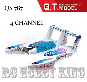 Free shipping 787 4Ch 3 in 1 Hydro-Glider RC toys radio remote control airplane flying Boat r/c stunt vehicle floatpalne qs787