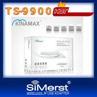 free shipping Kinamax TS-9900 3070 chipset 5800mW 58dbi WiFi Lan Card High Power Wireless USB Adapter Networking card