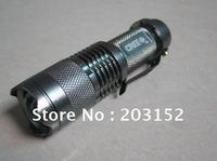 Mini LED Torch 7W 300LM CREE Q5 LED Flashlight Adjustable Focus Zoom Light Lamp free shipping